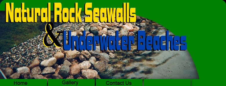 Natural Rock Seawalls and Underwater Beaches